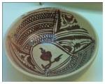 Ancient Spanish bowl, Santa Cruz Museum